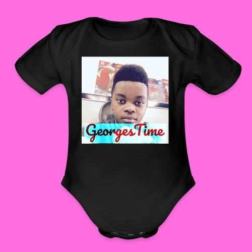 georges shirt - Organic Short Sleeve Baby Bodysuit