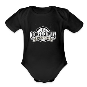 Crooks and Crowley Rustic - Short Sleeve Baby Bodysuit