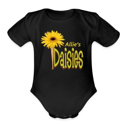The Daisies Team Logo - Organic Short Sleeve Baby Bodysuit