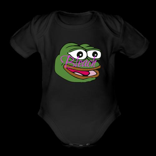 AnonymousBleach (Green Bleach Loving Frog) Shirts - Organic Short Sleeve Baby Bodysuit