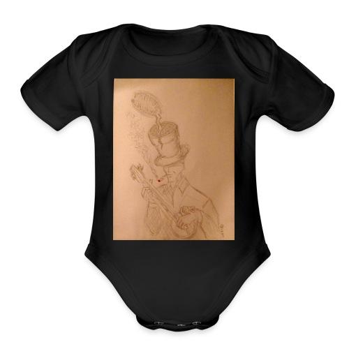 Martian Flytrap - Organic Short Sleeve Baby Bodysuit