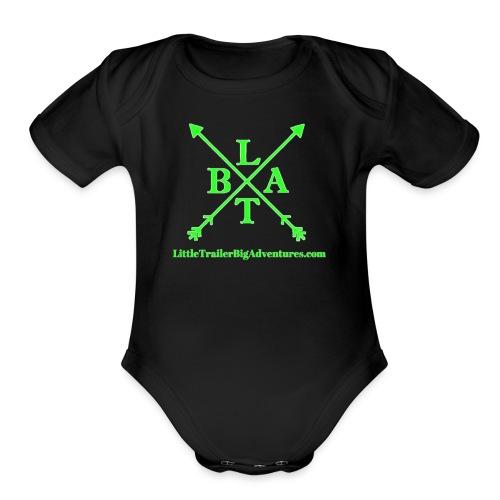 Green LTBA Logo - Organic Short Sleeve Baby Bodysuit