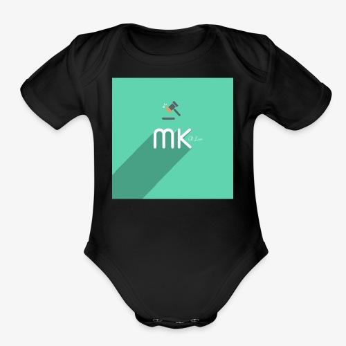 MK logo - Organic Short Sleeve Baby Bodysuit