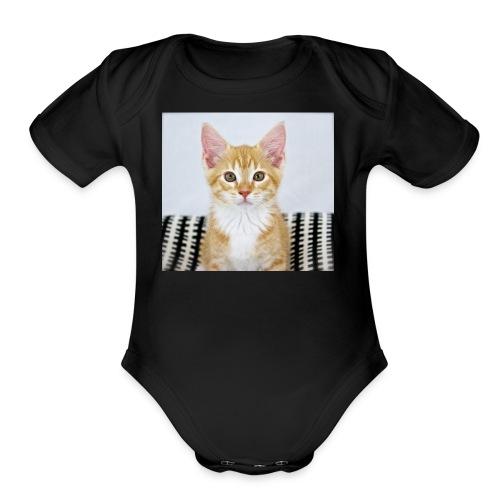 #ACatNamedJordan - Organic Short Sleeve Baby Bodysuit