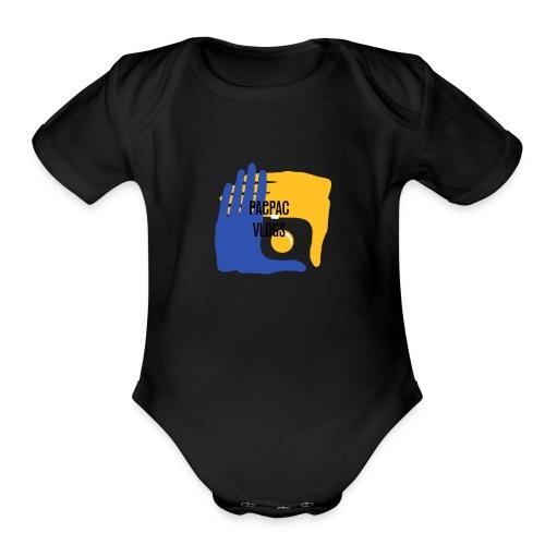 PACPAC VLOGS - Organic Short Sleeve Baby Bodysuit