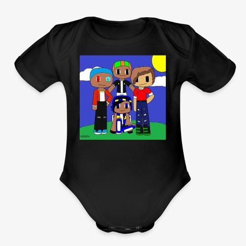 LittleDustinG Design 1 - Organic Short Sleeve Baby Bodysuit
