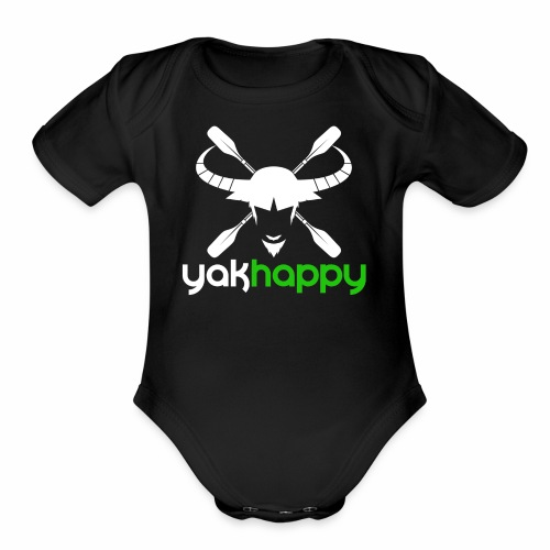Yakhappy Logo Light - Organic Short Sleeve Baby Bodysuit