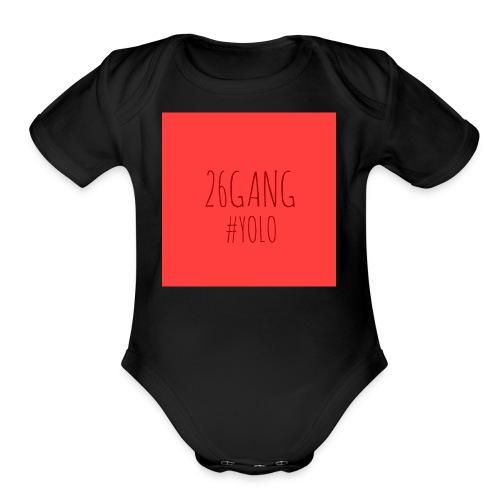 26GANG MERCH - Organic Short Sleeve Baby Bodysuit