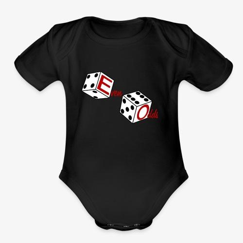 Even Odds Dice Logo - Organic Short Sleeve Baby Bodysuit