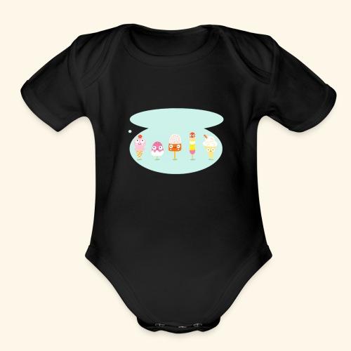 Lolly family - Organic Short Sleeve Baby Bodysuit