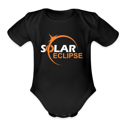 Nebraska Eclipse Tshirts - Nebraska Total Solar Ec - Organic Short Sleeve Baby Bodysuit
