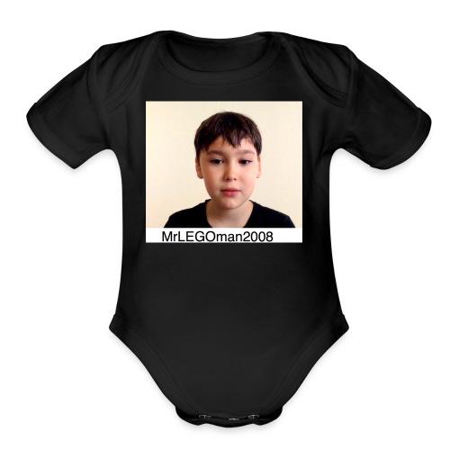 MrLEGOman2008 Face - Organic Short Sleeve Baby Bodysuit