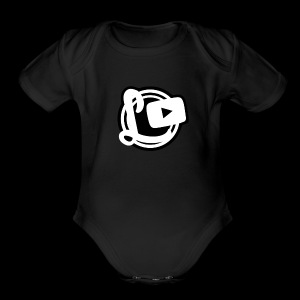 Logotipos Canal Leozzz 2 - Short Sleeve Baby Bodysuit