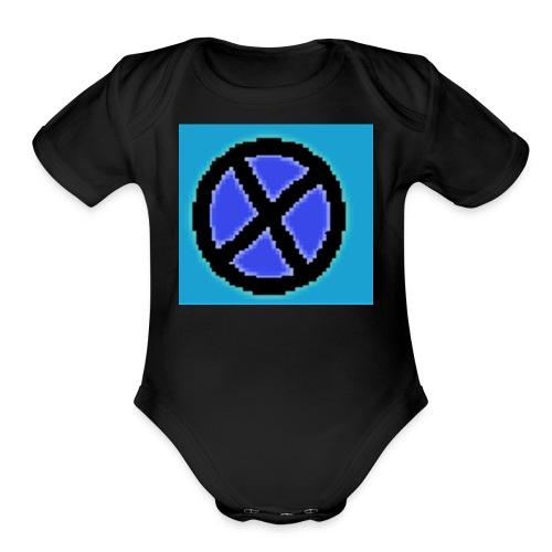 Xaviergamer symbol - Organic Short Sleeve Baby Bodysuit