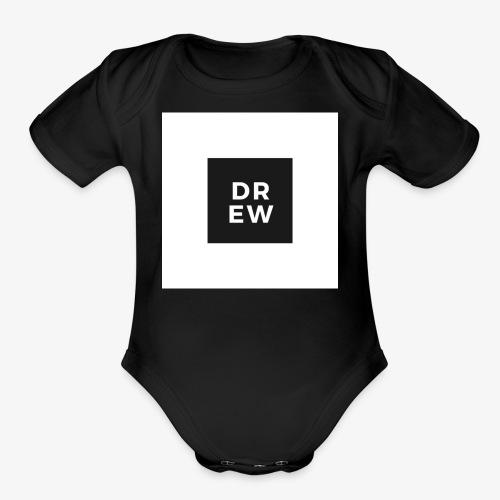 Official Drew Vlogs Merchandise - Organic Short Sleeve Baby Bodysuit