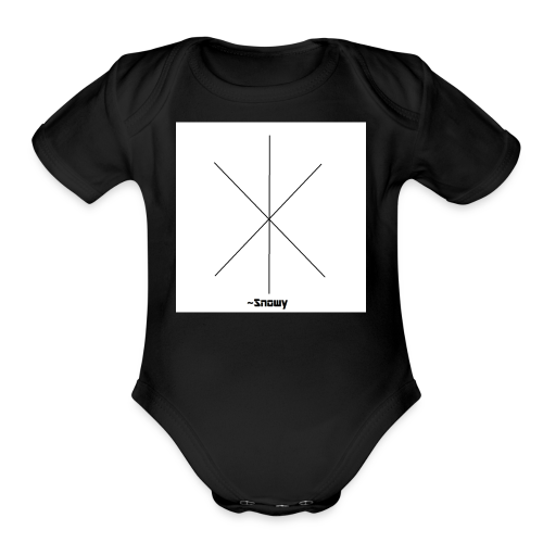 Snowy Logo - Organic Short Sleeve Baby Bodysuit