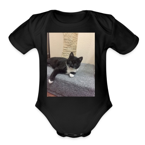 Oreo cat merch - Organic Short Sleeve Baby Bodysuit