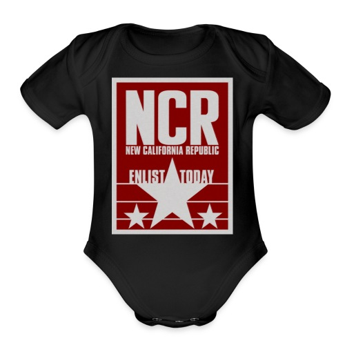 new california republic - Organic Short Sleeve Baby Bodysuit