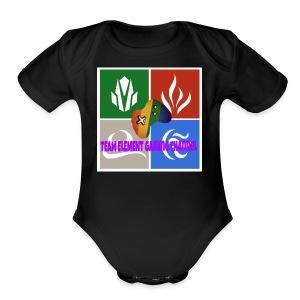 Team element gaming channel - Short Sleeve Baby Bodysuit