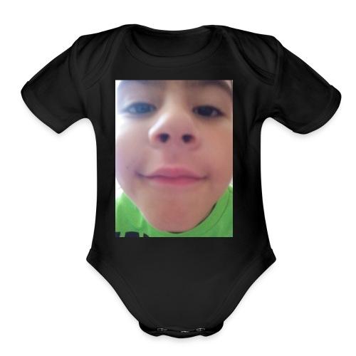 Luis - Organic Short Sleeve Baby Bodysuit