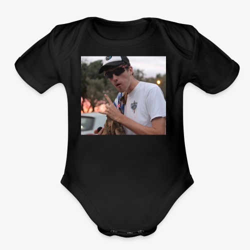 big man - Organic Short Sleeve Baby Bodysuit