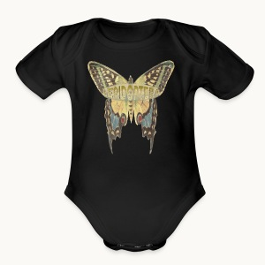 BUTTERFLY-LEPIDOPTERA-PASTEL-Carolyn Sandstrom - Short Sleeve Baby Bodysuit