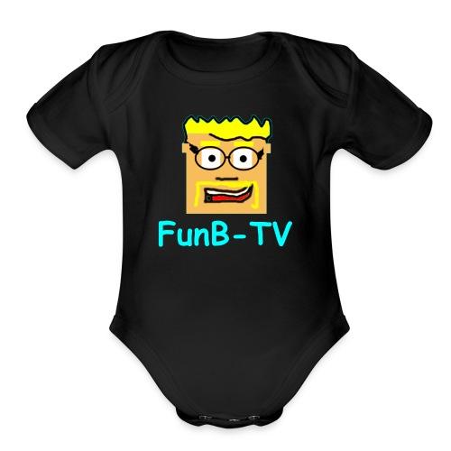 FunB-TV Guy - Organic Short Sleeve Baby Bodysuit