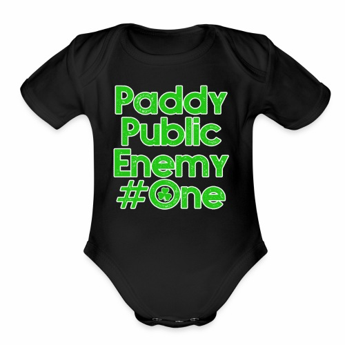 Paddy Public Enemy # One - Organic Short Sleeve Baby Bodysuit