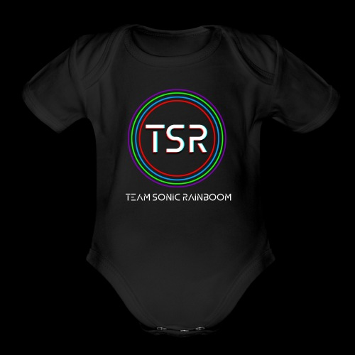 Team Sonic Rainboom Logo + Name - Organic Short Sleeve Baby Bodysuit