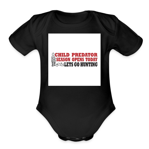 Darwin child pred t SHIRTS - Organic Short Sleeve Baby Bodysuit