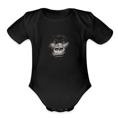 Charismatic Gorilla - Organic Short Sleeve Baby Bodysuit