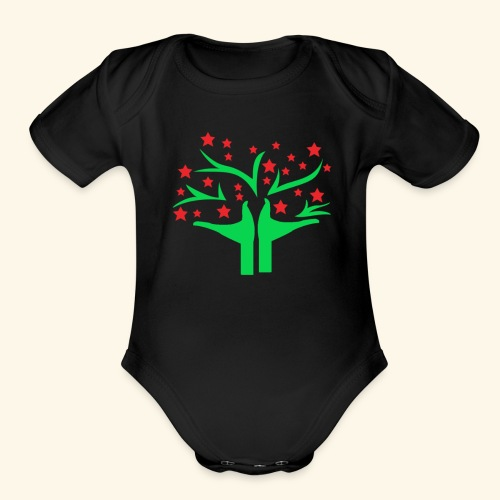 Be free - Organic Short Sleeve Baby Bodysuit