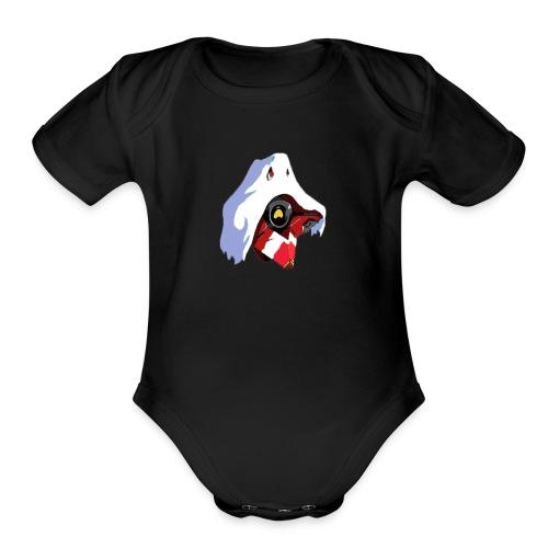 halloween Destiny ghost - Organic Short Sleeve Baby Bodysuit