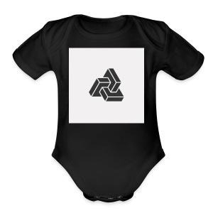 Triple Cube - Short Sleeve Baby Bodysuit
