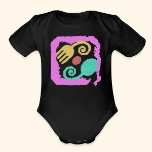 Floral Pastel - Short Sleeve Baby Bodysuit
