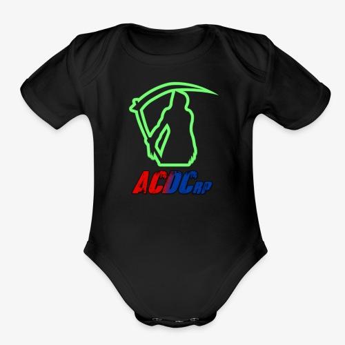 Green Stalker ACDCrp Logo - Organic Short Sleeve Baby Bodysuit