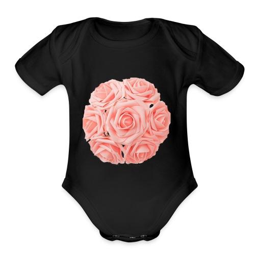 Royal Rose - Organic Short Sleeve Baby Bodysuit