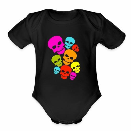 Happy Skull - Organic Short Sleeve Baby Bodysuit