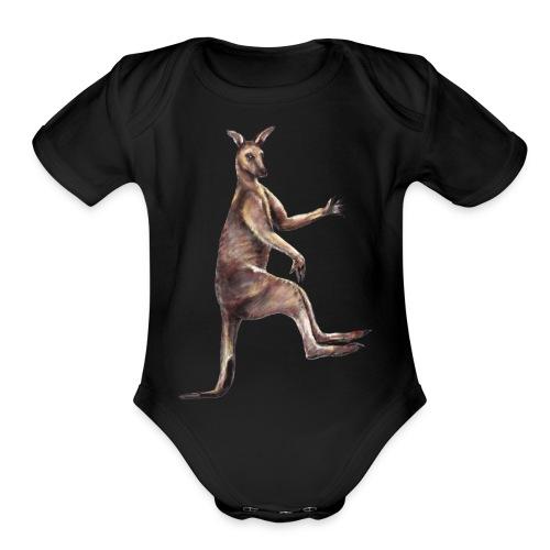 Kangaroo - Organic Short Sleeve Baby Bodysuit