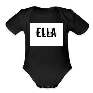 tattoo design female name ella 4 - Short Sleeve Baby Bodysuit