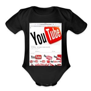Brady Allaby Vlogs - Short Sleeve Baby Bodysuit