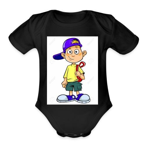 Jason The Great Theme Shirt - Organic Short Sleeve Baby Bodysuit