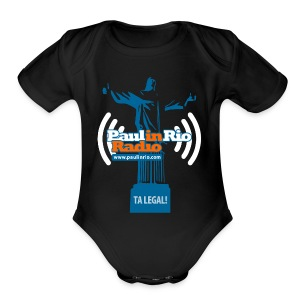 Paul in Rio Radio - The Thumbs up Corcovado #2 - Short Sleeve Baby Bodysuit