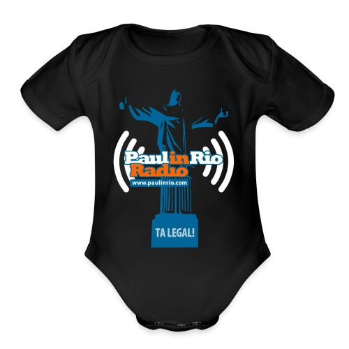 Paul in Rio Radio - The Thumbs up Corcovado #2 - Organic Short Sleeve Baby Bodysuit