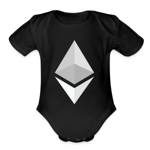 Ethereum Logo Light - Short Sleeve Baby Bodysuit
