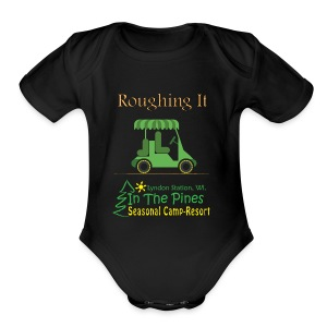 Roughing It With Golf Cart - Short Sleeve Baby Bodysuit