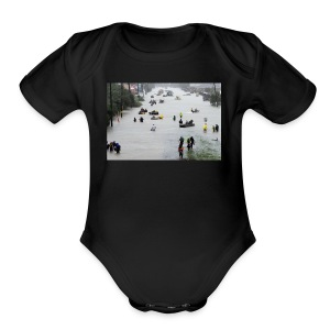 texas hurricane harvey 022 - Short Sleeve Baby Bodysuit