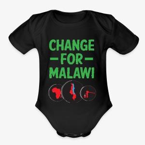 Change for Malawi Logo Shirt - Short Sleeve Baby Bodysuit