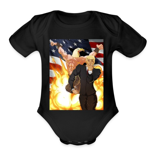 Trumps stand - Organic Short Sleeve Baby Bodysuit