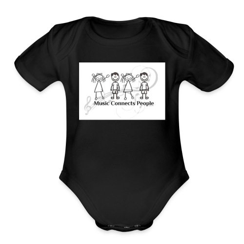 Music Connects People Shirt - Organic Short Sleeve Baby Bodysuit